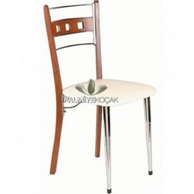 Ahşap Ayaklı Metal Sandalye