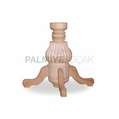 Masa Yuvarlak Tornalı Fitilli Ayağı