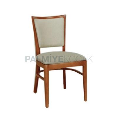 Boyalı Natural parlak Derili Krem Sandalye