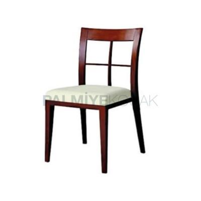 Cafe Modern Boyalı Eskitme Kızıl Sandalyesi