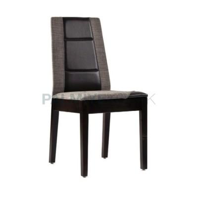 Modern Boyalı Döşemeli Kumaş Gri Deri Siyah Sandalye