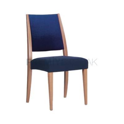 Modern Boyalı Natural Kumaşlı Mavi Sandalye