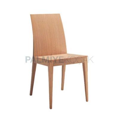 Modern Kontralı Ahşap Meşe Sandalye