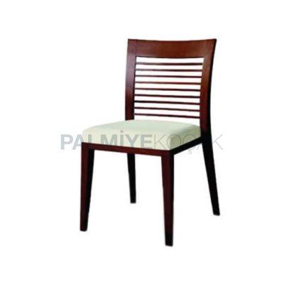 Restoran Modern Çıtalı Yatay Sandalyesi