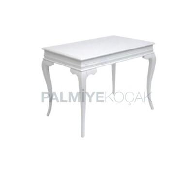 Avangard Boyalı Beyaz Dikdörtgen Masa