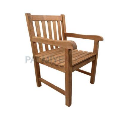 Bahçe Kollu İroko Sandalyesi