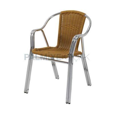 Bahçe Örgülü Borulu Çift Sandalyesi