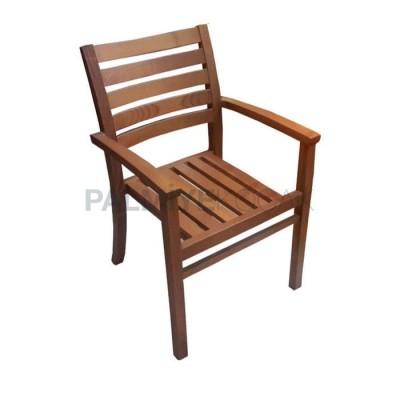 Bahçe Otel Kollu İroko Sandalyesi