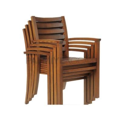 Bahçe Restaurant Kollu İroko Sandalyesi