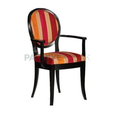 Cafe Boyalı Wenge Kollu Sandalyesi