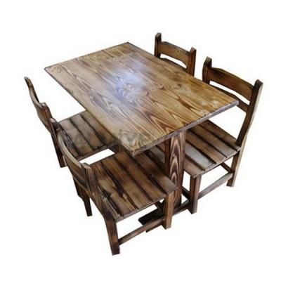 Masa Otel Restoran Cilalı Eskitme Çam Sandalyesi