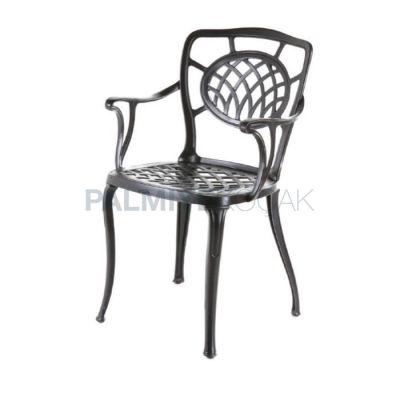 Döküm Kollu Boyalı Siyah Sandalye
