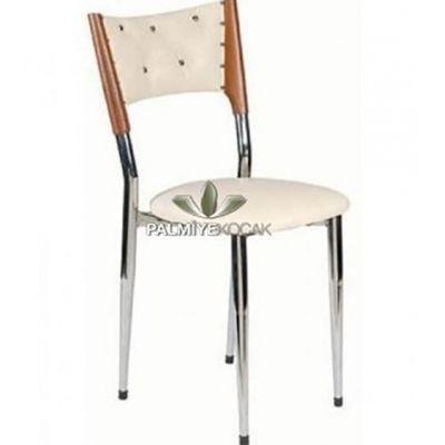 Döşemeli Deri Ahşap Sandalye