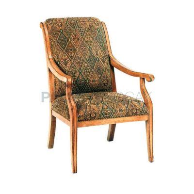 Eskitme Açık Döşemeli Kumaş Desenli Sandalye