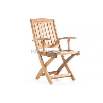 İroko Katlanır Kollu Sandalye