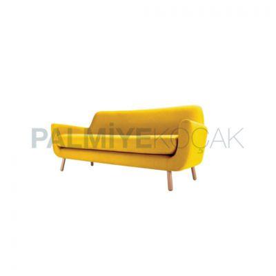 Üçlü Modern Koltuk Üçlü Modern Kumaşlı Sarı Koltuk