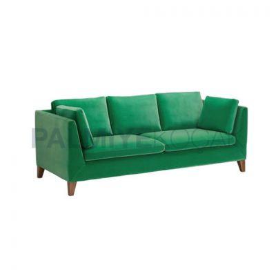 Üçlü Modern Kumaşlı Yeşil Koltuk
