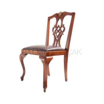 Ağaç Gürgen Oymalı Ayak Lukens Sandalye
