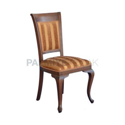 Ahşap Klasik Kumaşlı Desenli Ayak Lukens Sandalye