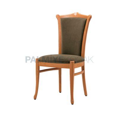 Klasik Derili Nubuk Siyah Boyalı Natural Sandalye