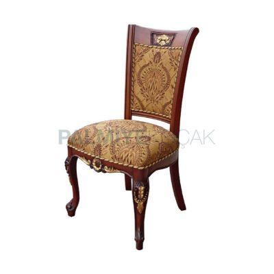 Klasik Döşemeli, Kumaş Klasik Ayaklı, Lukens Oymalı Sandalye
