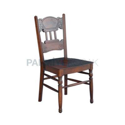 Klasik Gürgen Oymalı, ve Ayaklı Torna Sandalye