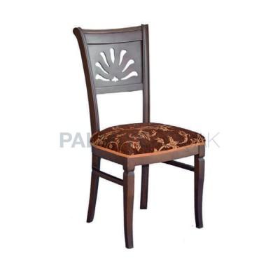 Klasik Kumaşlı Desenli Boyalı Venge Sandalye