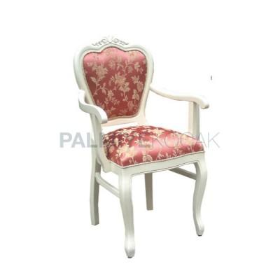 Kollu Beyaz Klasik Sandalye