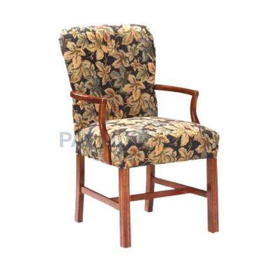 Kollu Boyalı Ceviz Döşemeli Çiçek Sandalye