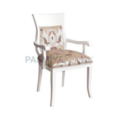 Kollu Lake Beyaz Klasik Ahşap Sandalye