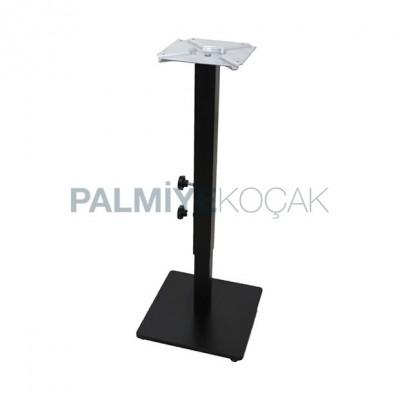 Siyah Tabanlı Kare Ayağı Masa Metal Ayarlanabilir Boyalı