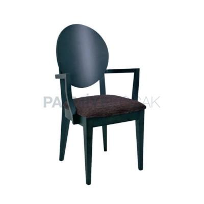 Kollu Boyalı Siyah Sırtlı Kontra Sandalye