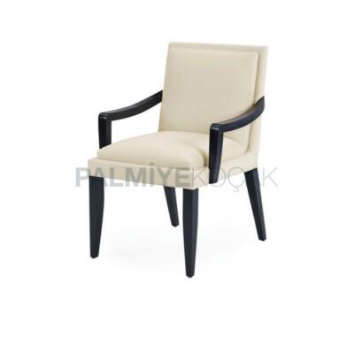 Salon Kollu Modern Boyalı Siyah Sandalyesi