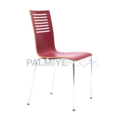 Metal Monoblok Kırmızı Sandalye