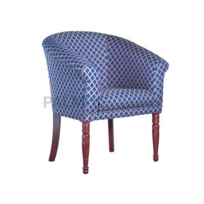 Otel Kollu Çizgili Mavi Sandalyesi