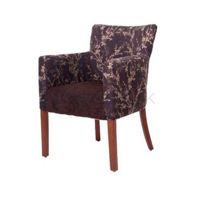 Poliüretan Ayaklı Ahşap Kumaşlı Desenli Çiçek Sandalye