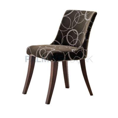 Poliüretan Döşemeli Kumaş Desenli Sandalye