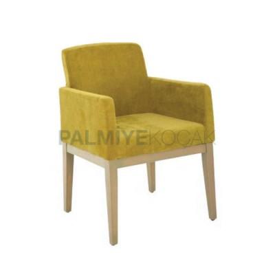 Poliüretan Kollu Modern Yeşil Fıstık Sandalye