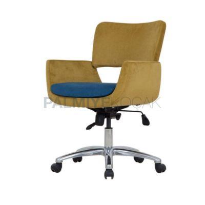 Poliüretan Minderli Döşemeli Kumaş Yeşil Fıstık Sandalye