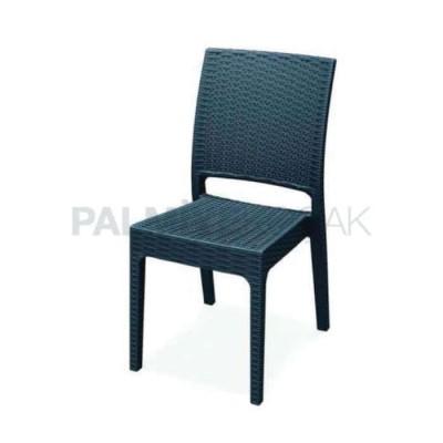 Bahçesi Restoran Enjeksiyon Siyah Sandalyesi