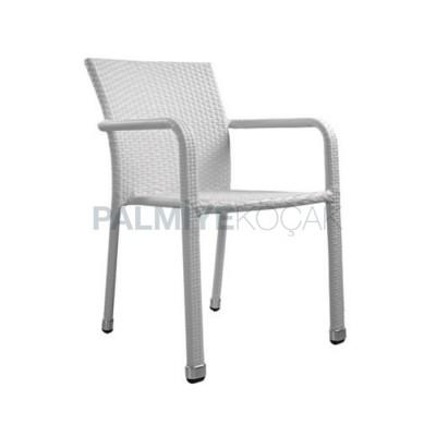 Beyaz Rattan Sandalye