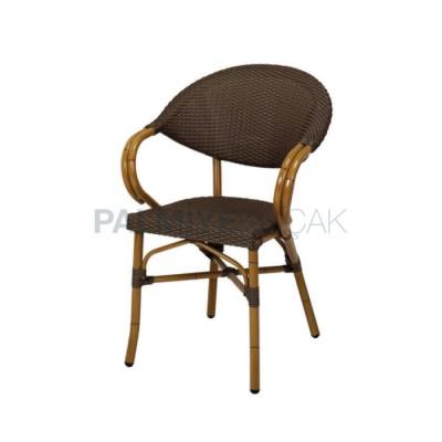 Cafe Örmeli Rattan Kahve Sandalyesi