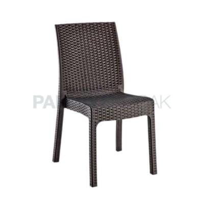 Mekan Dış Enjeksiyon Rattan Kahve Sandalye