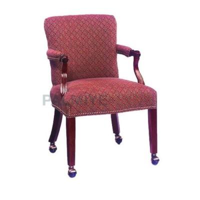 Restaurant Kollu Döşemeli Kumaş Sandalyesi