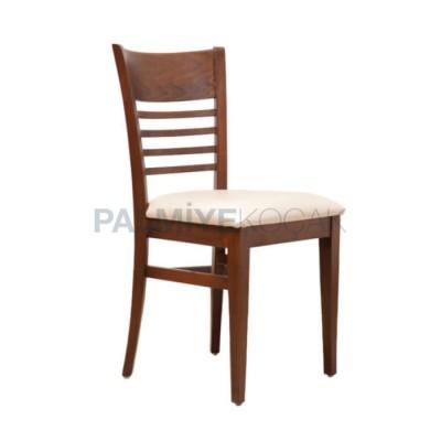 Ahşap Boyalı Ceviz Sandalye
