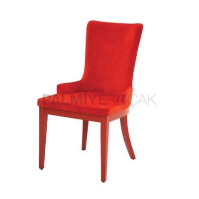 Salon Ayaklı Ahşap Poliüretan Sandalyesi