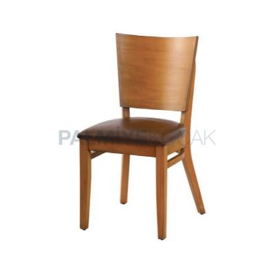 Tonet Ahşap Sırtlı Kontra Sandalye