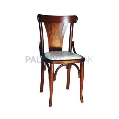 Tonet Ahşap Eskitme Açık Sandalye