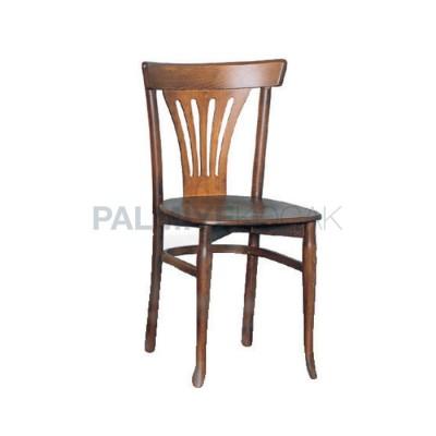 Tonet Sırtlı Yelpaze Boyalı Ceviz Açık Sandalye