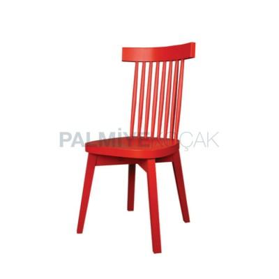 Tornalı Boyalı Kırmızı Sandalye